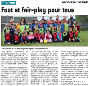 Article du 02 11 2014 ecole de foot