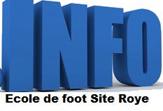 Info Ecole de Foot